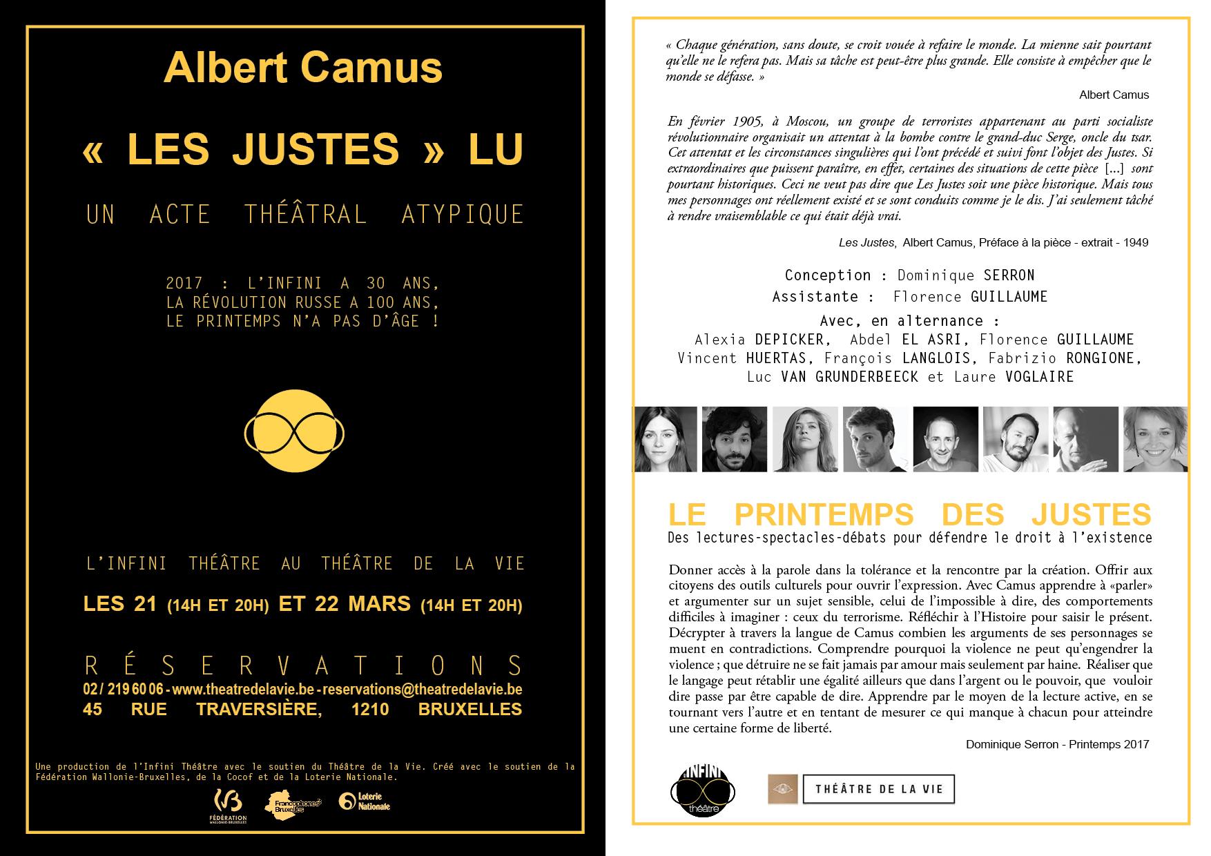 flyer Les Justes